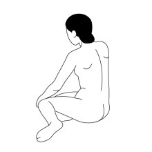 片側に足を出して座る